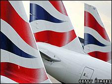 British Airways tail fins