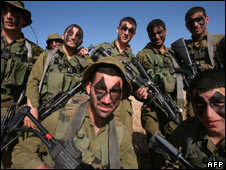 Israeli soldiers on graduation march, 01 April 2008