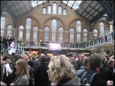 Crowd at Liverpool Street station (Pic: Jamillah Knowles)