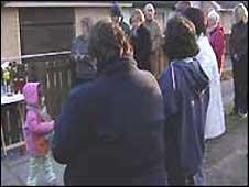 Residents met at a prayer vigil
