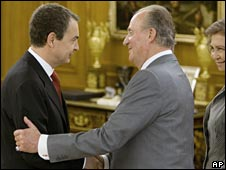Zapatero and King Juan Carlos - 12 April 08