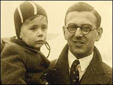 Sir Nicholas with one of the children he saved