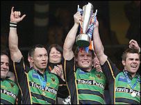 Northampton Saints celebrate