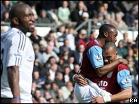 Darren Moore and John Carew