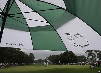 Rain threatens play on day three of the Masters