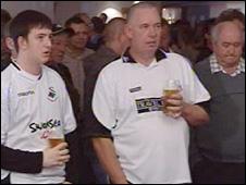 Swansea fans watch match