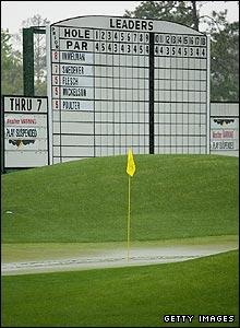 Rain stops play at Augusta