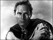 Charlton Heston in the 1977 film Crossed Swords