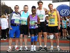 Phil Daniels, Ronan Keating, Floella Benjamin, James Cracknell and Ben Fogel