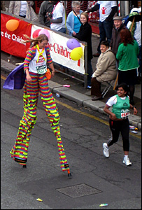 Michelle Frost in her stilts