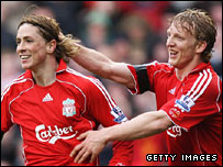 Fernando Torres and Dirk Kuyt