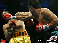 Antonio Margarito (right) was always in control against Cintron