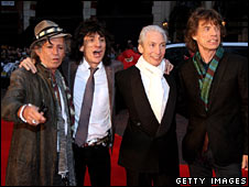 Keith Richards, Ronnie Wood, Charlie Watts and Mick Jagger