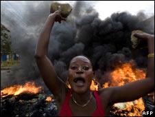 Violence in Kisumu, Kenya. File pic