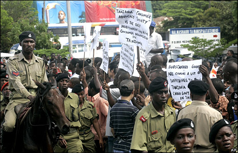Protests against the importation of counterfeit goods from China