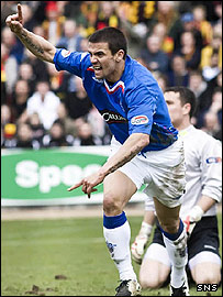 Nacho Novo opened the scoring for Rangers at Firhill