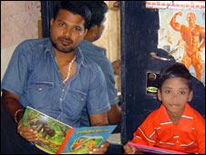 Biranchi Das with Budhia Singh. Pic: Sanjib Mukerjee