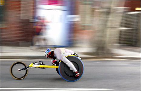 Wheelchair athlete. Copyright James Thornton