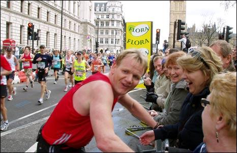 Gordon Ramsay in marathon. Copyright: Henry Dobson