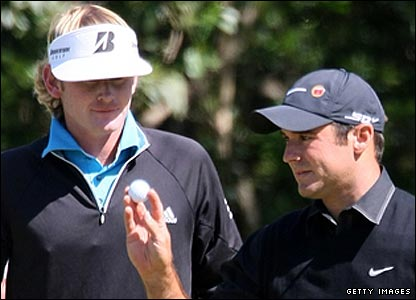 Brandt Snedeker (left) and Trevor Immelman