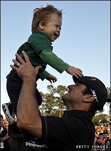 Trevor Immelman with his son Jacob