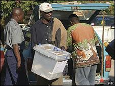 Ballot box in Zimbabwe