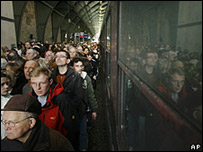 Visitors to the 'Train of Commemoration', 13 April 2008