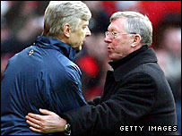 Arsene Wenger (left) and Sir Alex Ferguson