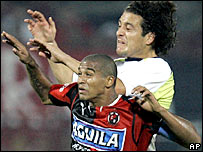 Macnelly Torres (front) is Cucuta's main attacking threat