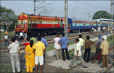 The Friendship Express rolls out of Calcutta