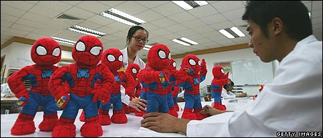 Dolls being tested in China