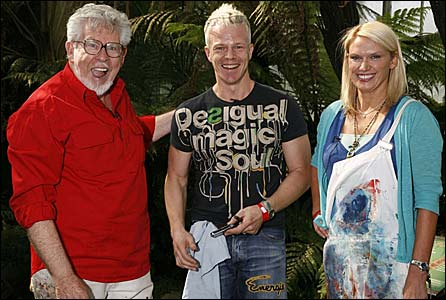 Rolf Harris, Mark Speight (c) and Anneka Rice