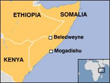 Somalia locator map