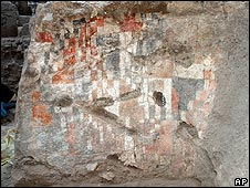 A wall painting, believed to date from 11th Century, found in Syria last year