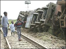 Derailed train in Nairobi district on Monday