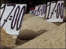 Rice on sale in Delhi