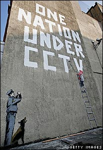 A new work by graffiti artist Banksy in central London