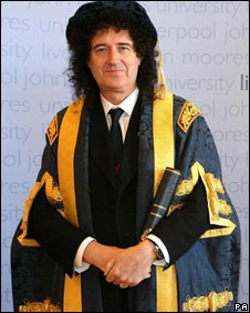 New Chancellor of John Moores University, Brian May