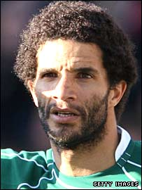 Portsmouth goalkeeper David James and his big hair