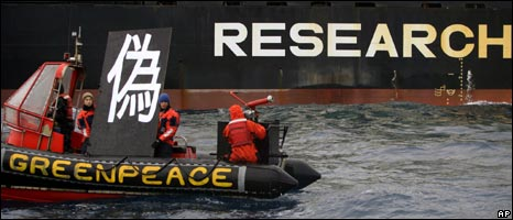 Greenpeace activists, January 2008