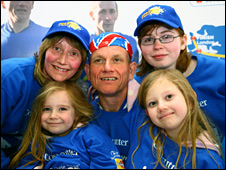 Dave Heeley and his family