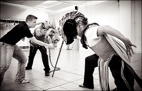 The Lion King rehearsals