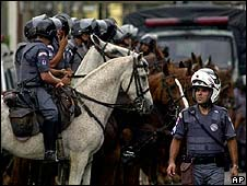 Police in Sao Paulo