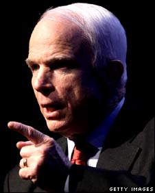 John McCain speaks during the Associated Press annual meeting.