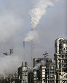 File photo of a chemical plant in Jilin province, China, December 2007