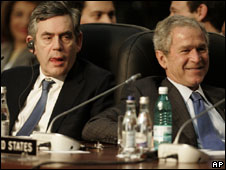Gordon Brown and George Bush