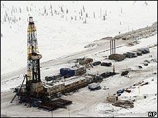 Oil rig in Eastern Siberia