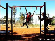 Aboriginal children play in Alice Springs, file image