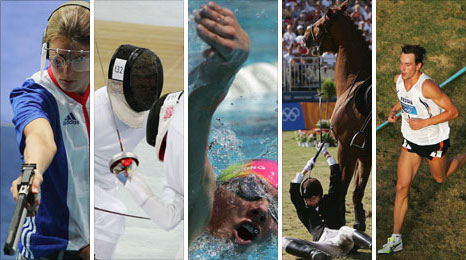 The five disciplines of modern pentathlon