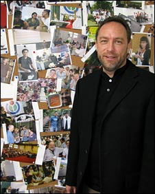 Jimmy Wales, head of Wikipedia